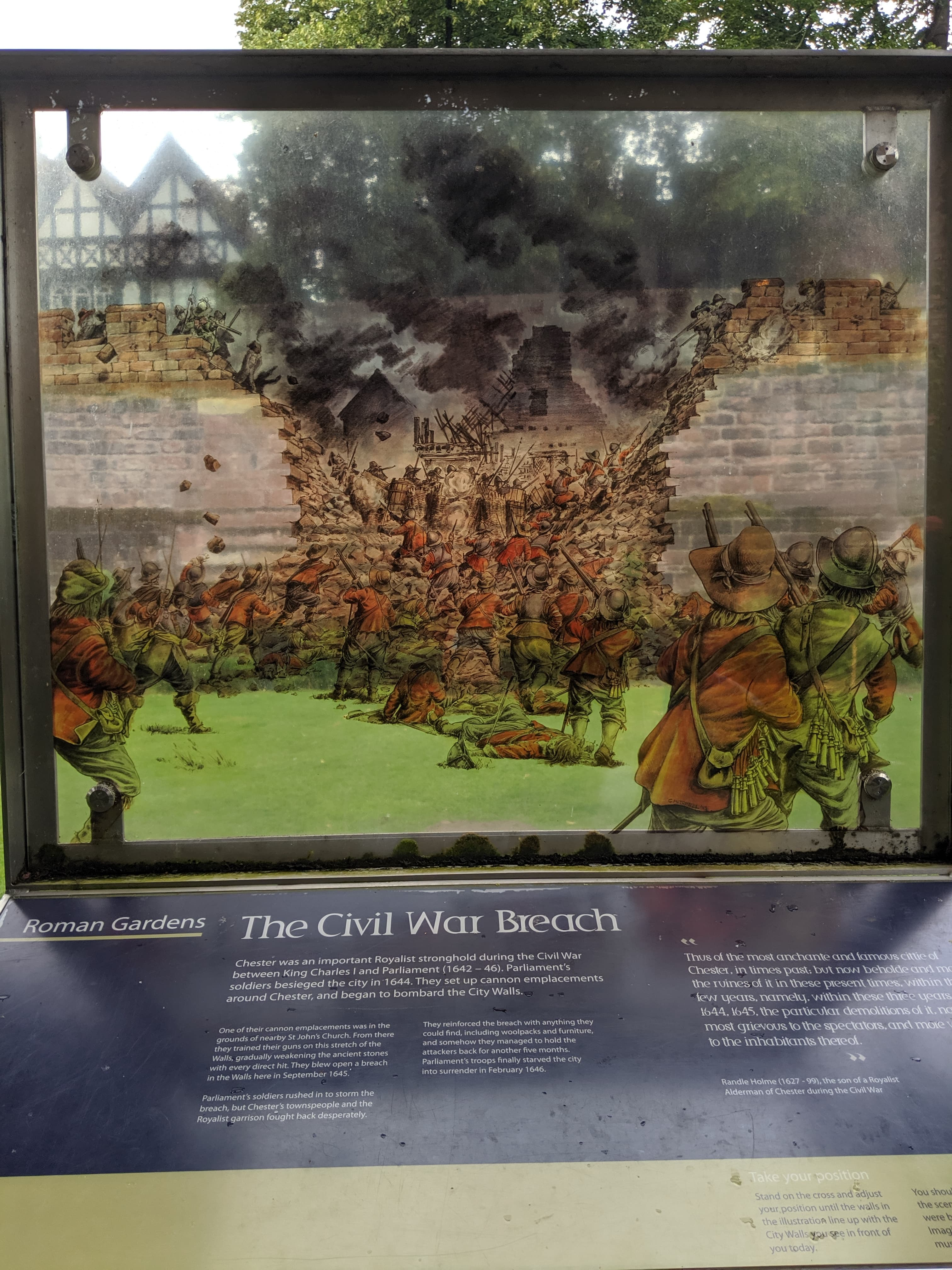 Image of Roman Gardens and Civil War Breach AR experience
