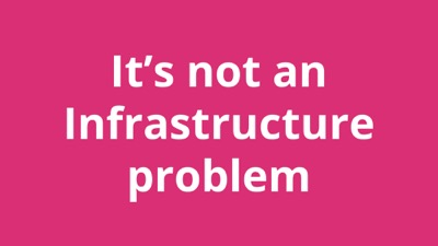 Using poor infrastructure is not an excuse