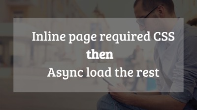 Inline your CSS that you need just for that page