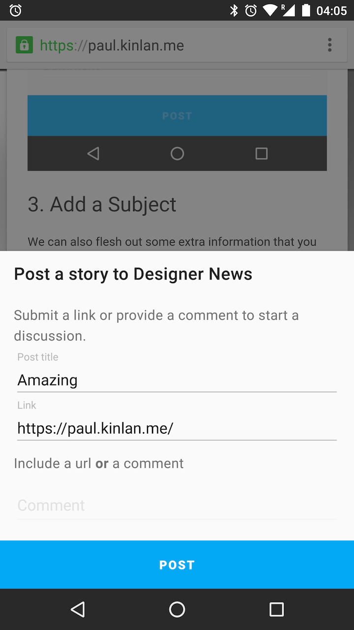 Triggering a native Share intent on Android from the web